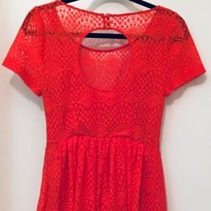 Plenty by Tracy Reese - Tangerine lace Dress. XS